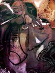 1girl bad_id breasts cong1991 highres long_hair parasol smile solo touhou umbrella yakumo_yukari