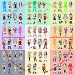 8girls costume_switch crystal_(pokemon) haruka_(pokemon) hikari_(pokemon) kotone_(pokemon) leaf_(pokemon) mei_(pokemon) pokemon pokemon_(game) serena_(pokemon) touko_(pokemon)