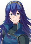 1girl a_meno0 blue_eyes blue_hair blush cape cute female_focus fingerless_gloves fire_emblem fire_emblem:_kakusei fire_emblem_awakening gloves hair_between_eyes hair_ornament intelligent_systems long_hair looking_at_viewer lucina lucina_(fire_emblem) nintendo simple_background smile solo tiara