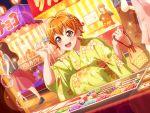 bang_dream! blush dress kitazawa_hagumi orange_hair red_eyes short_hair smile