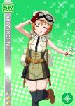 blush character_name dress green_eyes hoshizora_rin love_live!_school_idol_festival love_live!_school_idol_project orange_hair short_hair smile wink