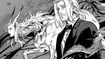 1boy akakokko_(niro_azarashi) formal hunter_x_hunter monochrome suit tagme tserriednich_hui_guo_rou