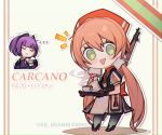 ... 2girls :> alternate_costume carcano_m1891_(girls_frontline) carcano_m91/38_(girls_frontline) chibi closed_eyes cup girls_frontline gloves green_eyes gun kky long_hair low_twintails multiple_girls pink_hair purple_hair rifle rifle_on_back smile teacup trembling triangle_mouth twintails twitter_username very_long_hair weapon weapon_on_back white_background