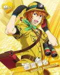 cap character_name green_eyes idolmaster idolmaster_side-m orange_hair short_hair smile uniform wakazato_haruna