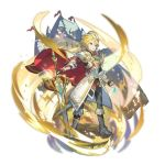 armor belt blonde_hair blue_eyes boots dragalia_lost euden full_body holding holding_sword holding_weapon jewelry light non-web_source official_art pendant saitou_naoki short_hair solo sword weapon