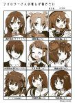 1boy 6+girls :d absurdres agano_(kantai_collection) artist_name bangs bow dola_(nijisanji) dragon_girl dragon_horns etorofu_(kantai_collection) eyebrows_visible_through_hair fate/grand_order fate_(series) gloves gouta_(nagishiro6624) haguro_(kantai_collection) hair_ornament hair_over_one_eye hair_ribbon hat highres himuro_tatsuya horns kantai_collection katsushika_hokusai_(fate/grand_order) kuroko_no_basuke long_hair looking_at_viewer love_live! love_live!_school_idol_project monochrome multiple_girls nijisanji open_mouth otonokizaka_school_uniform remodel_(kantai_collection) ribbon sailor_collar sailor_hat samidare_(kantai_collection) school_uniform sepia serafuku shirt short_hair sleeveless sleeveless_shirt smile sonoda_umi swept_bangs twintails v-shaped_eyebrows virtual_youtuber zuikaku_(kantai_collection)