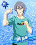 brown_eyes character_name grey_hair idolmaster idolmaster_side-m polo sakaki_natsuki short_hair
