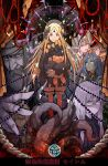 abigail_williams_(fate/grand_order) beard black_feathers blonde_hair bow charles_henri_sanson_(fate/grand_order) circe_(fate/grand_order) curtains dark_skin facial_hair fate/grand_order fate_(series) grey_hair hat head_wings horn kan_(aaaaari35) keyhole keyring lavinia_whateley_(fate/grand_order) matthew_hopkins_(fate) noose pink_hair pointy_ears purple_hair queen_of_sheba_(fate/grand_order) spoon stuffed_animal stuffed_toy teddy_bear tentacles white_hair