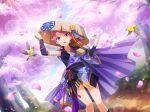 futaba_shimizu hat pink_hair short_hair shoujo_kageki_revue_starlight spring violet_eyes yukata