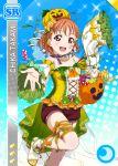 blush character_name dress halloween love_live!_school_idol_festival love_live!_sunshine!! orange_hair red_eyes short_hair smile takami_chika