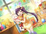dress liu_meifeng long_hair nurse purple_hair shoujo_kageki_revue_starlight smile violet_eyes