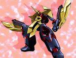 axe gaiking gaiking:_legend_of_daikuu_maryuu horn official_art orange_background shadow standing vulking