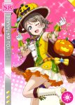 blue_eyes blush cape character_name dress grey_hair halloween love_live!_school_idol_festival love_live!_sunshine!! short_hair smile watanabe_you wink