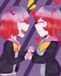 2_girls duo kanade_otonokouji otonokoji_hibiki super_danganronpa_another_2 twins
