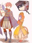 1girl 3boys adult age_difference animal animal_hood beard blue_eyes blue_hair cape cat_hood cat_tail child closed_mouth dated dress eliwood_(fire_emblem) facial_hair fake_tail father_and_daughter father_and_son fire_emblem fire_emblem:_fuuin_no_tsurugi fire_emblem:_rekka_no_ken fire_emblem:_the_binding_blade fire_emblem:_the_blazing_blade fire_emblem_blazing_sword fire_emblem_heroes fire_emblem_sword_of_seals from_side halloween_costume hat headband hector_(fire_emblem) hood horse human intelligent_systems lilina lilina_(fire_emblem) long_hair long_sleeves multiple_boys nintendo open_mouth redhead roy_(fire_emblem) shoochiku_bai short_hair super_smash_bros. tail teenage time_paradox twitter_username witch_hat young young_adult younger