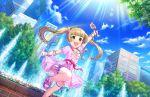 blonde_hair blush brown_eyes dress idolmaster_cinderella_girls_starlight_stage long_hair smile twintails yokoyama_chika