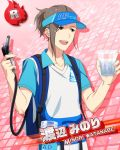 brown_eyes brown_hair character_name idolmaster idolmaster_side-m shirt short_hair visor watanabe_minori