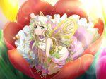 blonde_hair dress fairy long_hair shoujo_kageki_revue_starlight smile wings yellow_eyes yumeouji_shiori