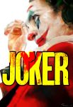 1boy absurdres arthur_fleck commentary commentary_request copyright_name dc_comics facepaint from_side green_hair hair_dye highres ishida_sui joker_(2019) looking_to_the_side male_focus red_suit shirt the_joker upper_body white_skin