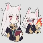 1girl :< @_@ animal_ears animalization blush book cat_ears cat_girl closed_mouth do_m_kaeru fire fire_emblem fire_emblem:_fuukasetsugetsu fire_emblem:_three_houses flame furry furryblush garreg_mach_monastery_uniform grey_background holding holding_book intelligent_systems koei_tecmo loli long_hair long_sleeves lysithea_von_ordelia multiple_views nintendo open_mouth pink_eyes signature simple_background super_smash_bros. uniform white_hair