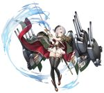 1girl azur_lane beret boqboq cape conte_di_cavour_(azur_lane) expression_chart female hat headgear military official_art short_hair solo sword thigh-highs water weapon yellow_eyes