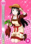 black_hair blush character_name dress green_eyes kurosawa_dia long_hair love_live!_school_idol_festival love_live!_sunshine!! smile