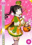 black_hair blush character_name dress green_eyes halloween kurosawa_dia long_hair love_live!_school_idol_festival love_live!_sunshine!! smile