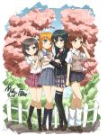 4girls black_eyes black_hair blue_eyes brown_eyes brown_hair crossover green_eyes hentai_ouji_to_warawanai_neko. kousaka_kirino long_hair miku_fan_(335288848) misaka_mikoto multiple_girls orange_hair ore_no_imouto_ga_konna_ni_kawaii_wake_ga_nai school_uniform season_connection serafuku short_hair side_ponytail thigh-highs to_aru_kagaku_no_railgun to_aru_majutsu_no_index tsutsukakushi_tsukiko yahari_ore_no_seishun_lovecome_wa_machigatteiru. yukinoshita_yukino