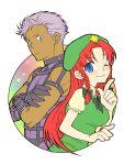 1girl bad_id couple crossover esaka hong_meiling king_of_fighters krizalid m.u.g.e.n touhou