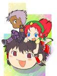 chibi crossover esaka hakurei_reimu hong_meiling king_of_fighters krizalid m.u.g.e.n office riding touhou yukkuri_shiteitte_ne
