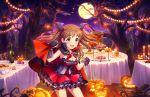blush dress green_eyes halloween idolmaster_cinderella_girls_starlight_stage long_hair makihara_shiho orange_hair smile wink