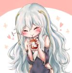 1girl blood blood_bag blush closed_eyes commentary_request drinking_straw girls_frontline highres honyang korean_commentary korean_text ribeyrolles_1918_(girls_frontline) smile solo tomato tomato_juice translation_request white_hair