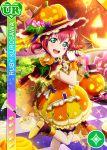 blush character_name dress green_eyes halloween hat kurosawa_ruby love_live!_school_idol_festival love_live!_sunshine!! pink_hair short_hair smile wink