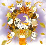 00s 2005 6+others acorn animal bijou boss_(hamtaro) calendar cappy_(hamtaro) dexter_(hamtaro) halloween hamster hamtaro hamtaro_(hamtaro) howdy_(hamtaro) jingle_(hamtaro) kawai_ritsuko leaf leaves maxwell_(hamtaro) moon no_humans official_art oxnard panda_(hamtaro) pashmina penelope_(hamtaro) pumpkin ribbon sandy_(hamtaro) shogakukan snoozer stan_(hamtaro) sunflower_seed tms_entertainment