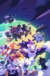 above_clouds amy_rose anger_vein bandages bat big_the_cat broom broom_riding candy chao_(sonic) cream_the_rabbit dr._eggman e-123_omega fangs flying food halloween halloween_basket halloween_costume hat jack-o'-lantern jewelry knuckles_the_echidna metal_sonic midair moon mummy_costume nathalie_fourdraine night night_sky open_mouth rouge_the_bat scythe shadow_the_hedgehog sky smile sonic sonic_the_hedgehog sonic_the_werehog tails_(sonic) top_hat umbrella witch_costume witch_hat