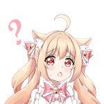 1girl animal_ears brown_hair cat_ears highres magical_girl neko_kizuna original red_eyes standing tachi-e twintails