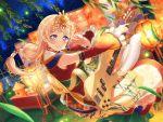 bang_dream! blonde_hair blush dress headdress long_hair miko pink_eyes shirasagi_chisato