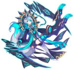 1boy :3 absurdres animal_ears ankh anubis black_gloves blue_eyes commentary_request dated eyebrows_visible_through_hair full_body gloves gold_trim grey_hair highres jackal_ears jackal_tail looking_at_viewer macchoko mechanical_legs original scythe solo white_background