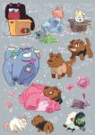! amethyst_(steven_universe) angry animal bag bismuth_(steven_universe) blank_eyes box box_on_head bubble cardboard_box cat character_name closed_eyes closed_mouth clothed_animal covered_face cuddling directional_arrow dog ear_piercing facing_away facing_viewer fenman garnet_(steven_universe) gem greg_universe grin hair_over_one_eye heart hiding in_bag in_box in_container looking_at_another mouse multicolored_hair nephrite_(steven_universe) no_humans one_eye_closed one_eye_covered onion_(steven_universe) paws pearl_(steven_universe) peridot_(steven_universe) piercing plastic_bag rose_quartz_universe skull_print smile smug steven_universe sunglasses sweat sweating_profusely younger