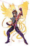 armor blue_hair cotaelow phoenix_ikki posing saint_seiya