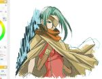 breasts cape closed_mouth eyepatch gloves kanon_(wild_arms_2) link_(aa30) long_hair solo wild_arms wild_arms_2