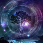final_fantasy final_fantasy_x kimikahamu lake night night_sky no_humans scenery sky star_(sky) starry_sky tree