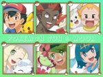 alolan_vulpix kaki_(pokemon) lillie_(pokemon) mamane_(pokemon) mao_(pokemon) pikachu pokemon pokemon_(anime) pokemon_sm_(anime) primarina satoshi_(pokemon) suiren_(pokemon) togedemaru tsareena turtonator