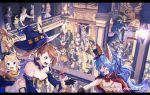 aglovale_(granblue_fantasy) ange_d'erlanger animal_ears arulumaya balcony beatrix_(granblue_fantasy) breasts cagliostro_(granblue_fantasy) cake cape charlotta_fenia cookie cravat crossed_arms crown danua draph erune eustace_(granblue_fantasy) eyepatch feather_(granblue_fantasy) ferry_(granblue_fantasy) food funf gloves granblue_fantasy hallessena halloween halloween_basket halloween_costume happy_halloween harvin hat hood horns ink_stain katalina_aryze korwa lady_grey lancelot_(granblue_fantasy) lunalu_(granblue_fantasy) mahira_(granblue_fantasy) mask melissabelle milleore mimlememel mini_hat mummy party percival_(granblue_fantasy) pumpkin sahli_lao sandalphon_(granblue_fantasy) sarya_(granblue_fantasy) scythe siegfried_(granblue_fantasy) sierokarte siete six_(granblue_fantasy) skeleton uno_(granblue_fantasy) vane_(granblue_fantasy) vaseraga vira_lilie wand witch_hat yaia_(granblue_fantasy) zaja zeta_(granblue_fantasy)