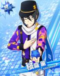 black_hair character_name closed_eyes idolmaster idolmaster_side-m jacket sakuraba_kaoru scarf short_hair