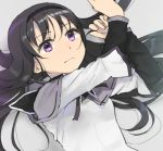 1girl akemi_homura black_hair hairband long_hair magical_girl mahou_shoujo_madoka_magica solo tsuzuya_(knt31) violet_eyes white_background