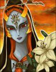 grey_skin hood long_hair lovamaru midna nintendo orange_hair red_eyes solo spoilers the_legend_of_zelda twilight_princess