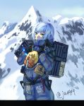 backpack bag death_stranding fate/grand_order fate_(series) jack_the_ripper_(fate/apocrypha) mountain mountainous_horizon odradek overalls rope