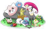 kojirou_(pokemon) morito_leaf9 musashi_(pokemon) pokemon pokemon_(game) pokemon_sm team_rocket