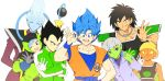 2girls 5boys ;d ^_^ arm_at_side armor black_eyes black_hair blue_eyes blue_hair blue_skin broly_(dragon_ball_super) bulma cheelai chest_scar closed_eyes clothes_writing coat crossed_arms dougi dragon_ball dragon_ball_super dragon_ball_super_broly facial_scar gloves green_coat green_skin grey_gloves grey_hair hand_on_hip hat leaning leaning_to_the_side lemo_(dragon_ball) libeuo_(liveolivel) long_hair looking_away multiple_boys multiple_girls ok_sign one_eye_closed open_mouth orange_skin pectorals scar scar_on_cheek short_hair simple_background smile son_gokuu spacesuit spiky_hair staff super_saiyan_blue teeth upper_body upper_teeth vegeta very_long_hair violet_eyes whis white_background white_gloves white_hair winter_clothes wristband yellow_headwear